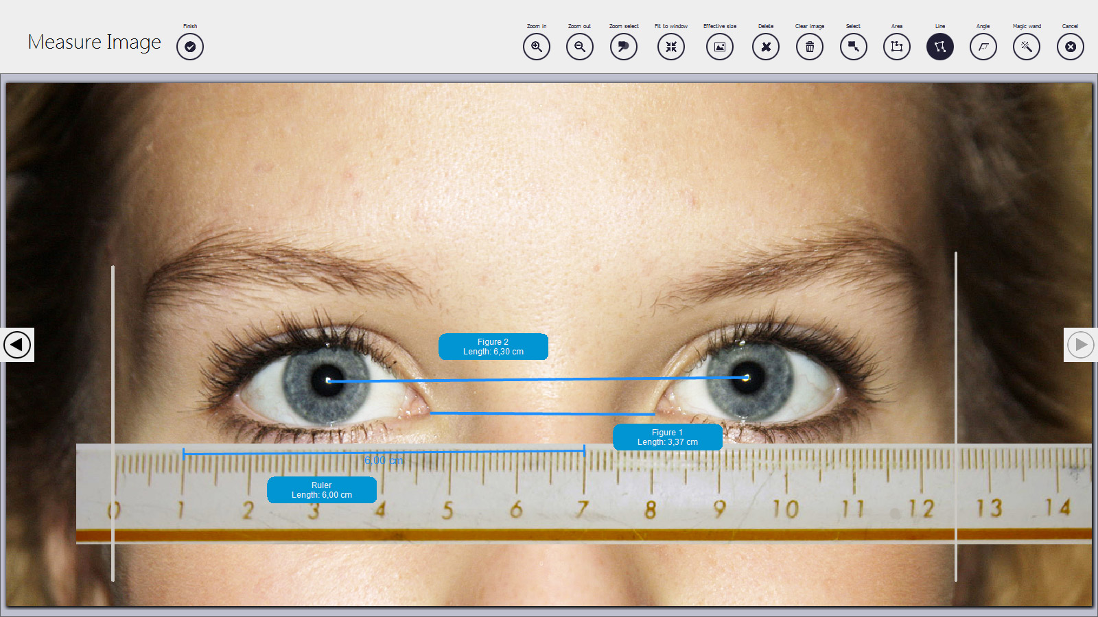 klonk image measurement free software tool image